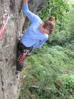 Rock climbing in NH