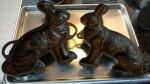 Rabbit Cake Mold before reseasoning