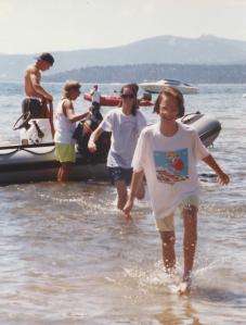 Parasailing Lake Tahoe 1991