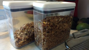 Homemade granola goodness