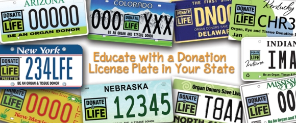 Donate Life License Plates
