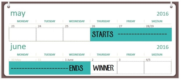 100th Giveaway Calendar