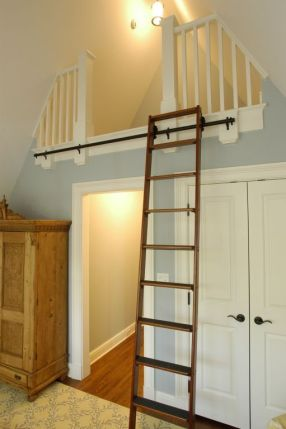 Rolling Loft Ladder, pinterest.com