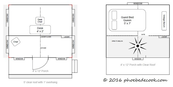 Tiny House Floor Plan, phoebedecook.com