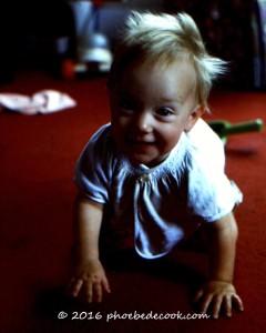 Phoebe age 1, phoebedecook.com